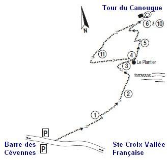 Gîtes en Cévennes - Tour du Canourgue